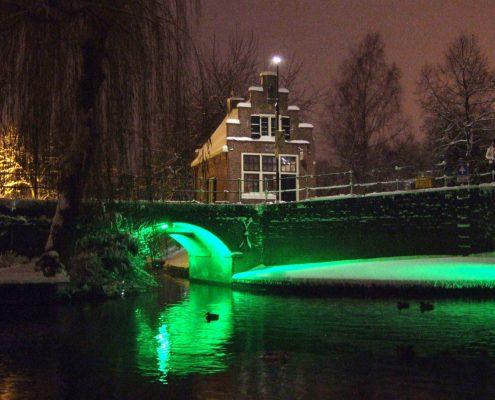 "Winnaar Fotowedstrijd IJsselstein 2010 - Femmy Achterberg - ""Oud IJsselstein in futuristisch licht"""