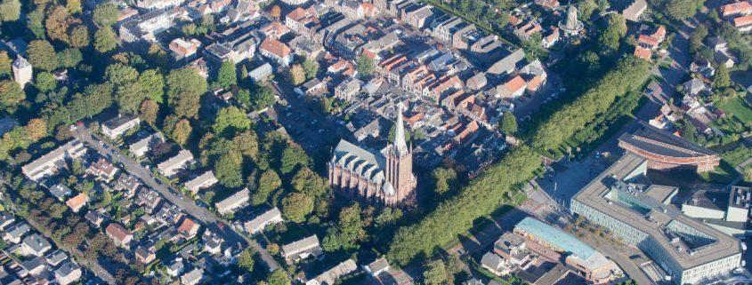 Luchtfoto van de binnenstad van IJsselstein