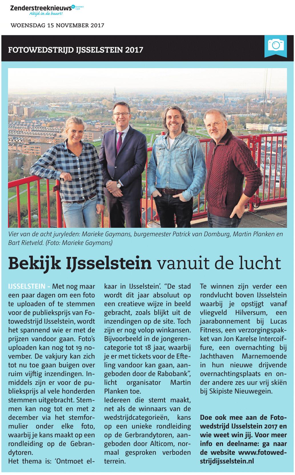 Fotowedstrijd IJsselstein in de Zenderstreeknieuws
