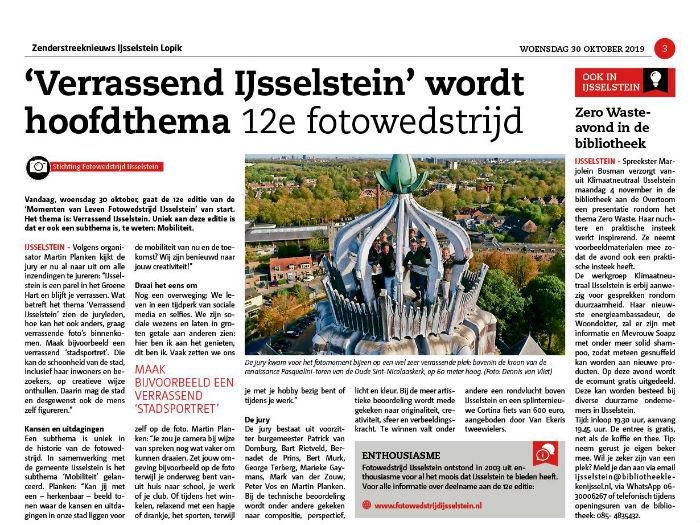 Momenten van Fotowedstrijd IJsselstein 2019. Thema: Verrassend IJsselstein en Mobiliteit