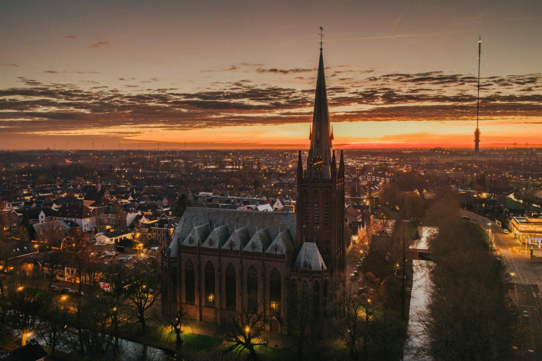 Winnaar Drone categorie Fotowedstrijd IJsselstein 2019 - Jeroen Brouwer met Het magische uur in IJsselstein
