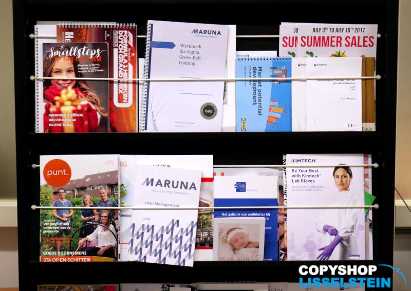 Copyshop IJsselstein: kast met drukwerk