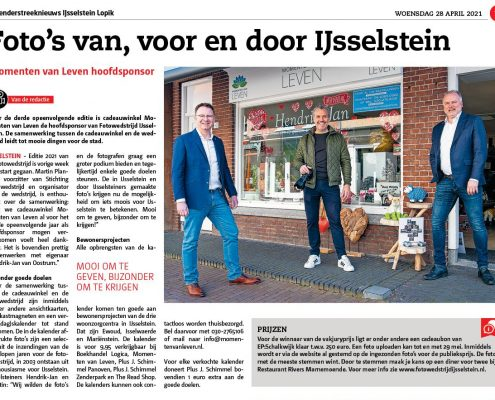 Momenten van leven hoofdsponsor Fotowedstrijd IJsselstein 2021 - Zenderstreeknieuws IJsselstein Lopik