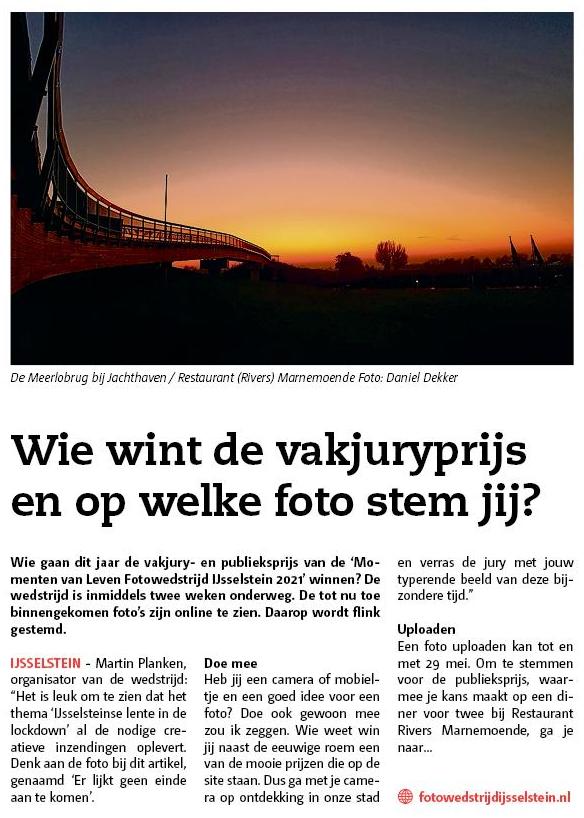Momenten van Leven Fotowedstrijd IJsselstein - Zenderstreeknieuws IJsselstein Lopik 5 mei 2021