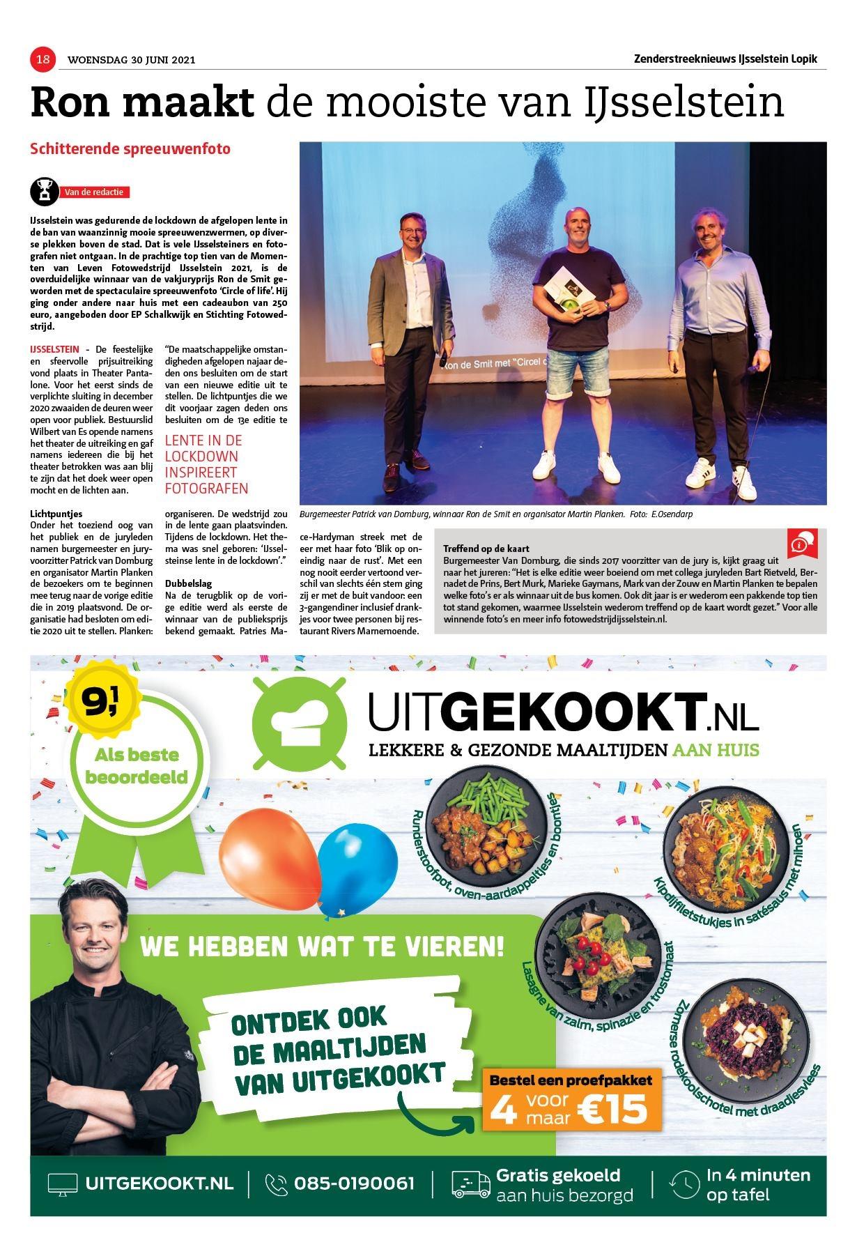 Momenten van Leven Fotowedstrijd IJsselstein 2021 Patrick van Domburg Ron de Smit Martin Planken Zenderstreeknieuws 30-06-2021